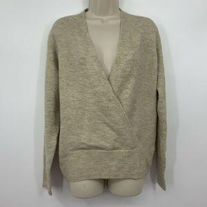Lucky Brand deep V acrylic sweater